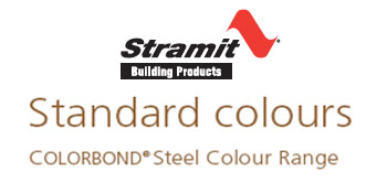 Standard Colour Bond Colours
